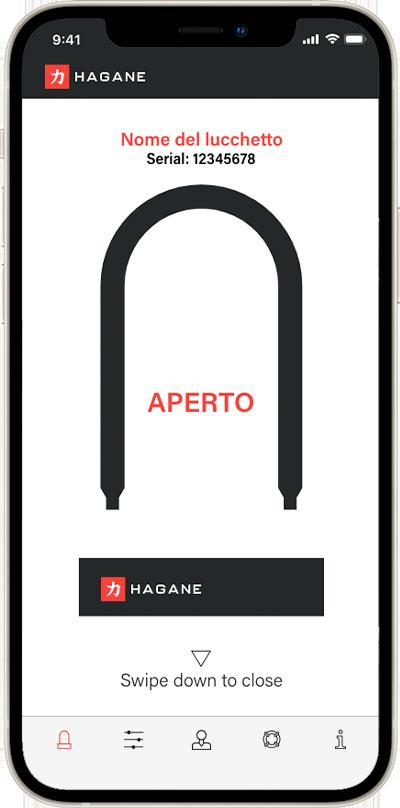 Swipe per aprire Hagane